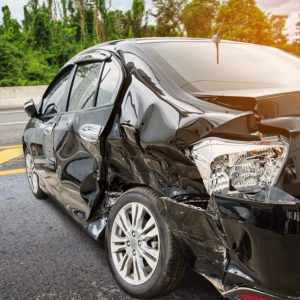 Car after accident in Alabama