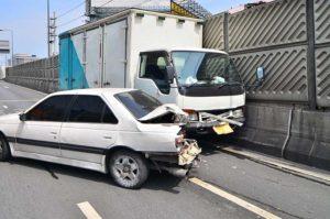 Truck crushed into a car near Birmingham