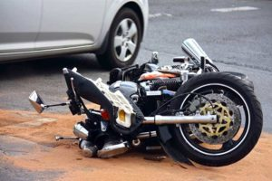 Image of a motorcycle accident