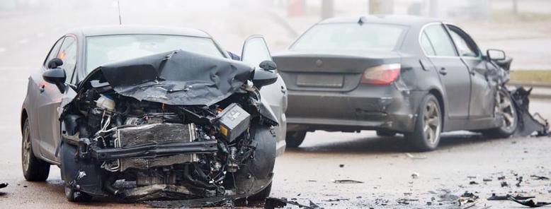 Multi-car accident scene in Jasper, AL
