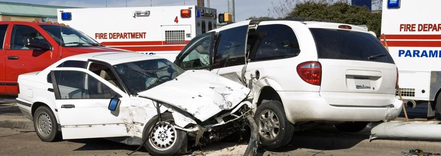 Multi-car crash being assisted by EMS in Pleasant Grove, AL.