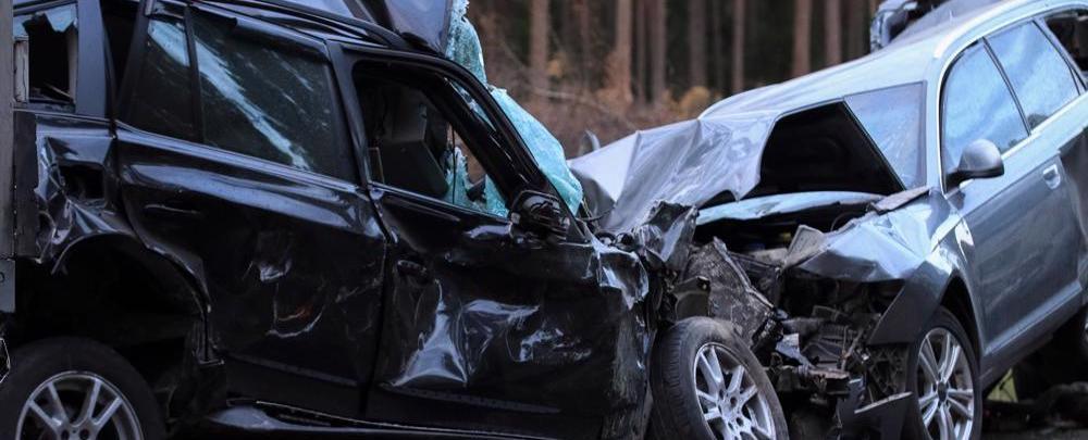 Multi-car accident scene in Pleasant Grove, AL