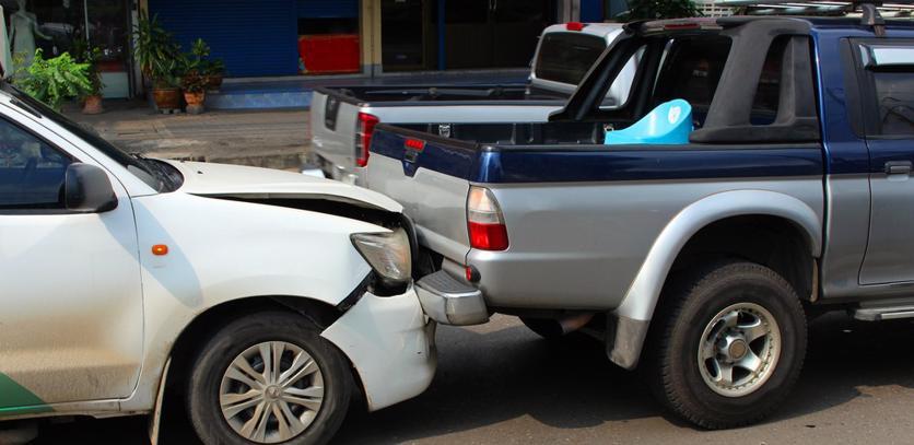 A rear end accident in Siluria, AL